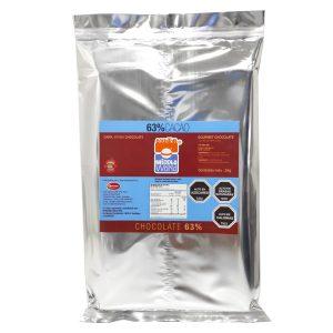 Barra Chocolate Premium 63% Cacao, 1Kg